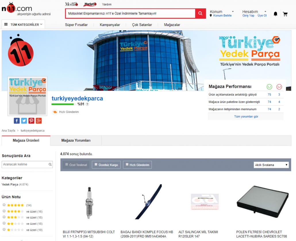 Türkiye Yedek Parça N11